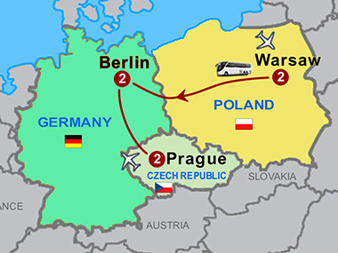 warsaw berlin and prague
